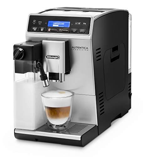 De'Longhi Autentica Cappuccino, Fully Automatic Bean to Cup Coffee Machine, Espresso Maker, ETAM29.660.SB, Silver and Black