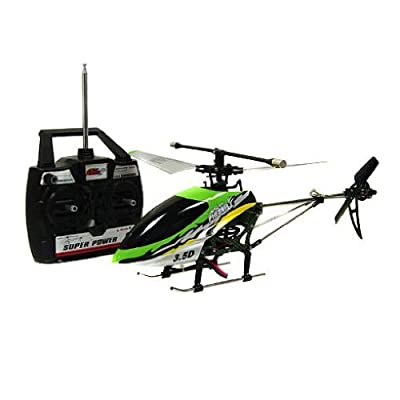 LARGE 3.5CH Green Single Propeller RC Radio Control Helicopter With Gyroscope P792 Toy