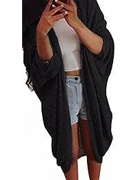 Minetom Sweater Femmes Casual Kimono Cardigan Châles à Manches Chauve Souris