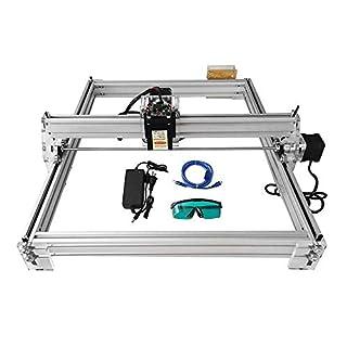 HUKOER kleine Laser Graviermaschine 40X50CM DIY CNC Laser Graviermaschine Set 12V USB Desktop Laser Graviermaschine ohne Gravur Höhenbegrenzung (2500MW)