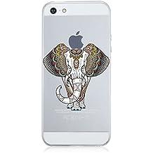 Qissy® Carcasa iphone SE 5 5s , TPU Funda Cubierta de Silicona de ultra delgado impresión de estuche Silicona Carcasa Trasera Para iphone 5 5s Transparente