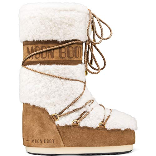 3787f38e439 Unisex Adults Tecnica Moon Boot Classic Premium Wool Winter Warm Boots -  Sand/off White - 6-7.5