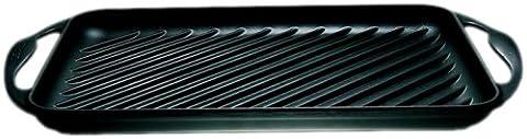 Le Creuset 20126000000460 Grill Rectangulaire 32,5 x 22 cm Noir
