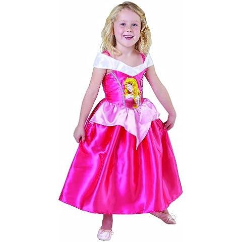 Disfraz infantil de princesa Disney de la bella durmiente (talla S, 3-4 años)