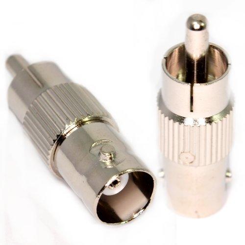 BNC Buchse Zum Chinch Cinch Männlich Stecker Adapter Videoüberwachung CCTV Zum Composite Video Bnc-audio