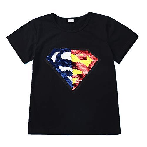 Niño niña Camiseta Lentejuelas Camiseta mágica