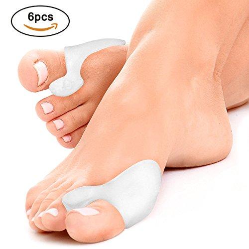 Separador dedos pie, Gel Correctores de Dedos de Pie para Deportes Actividades, Yoga Práctica y Férulas para Juanetes (6 paquetes)