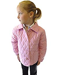 Campbell Cooper Girls Fitted Quilted Newmarket Riding Jacket School Coat