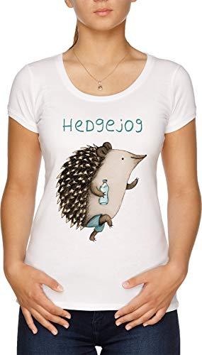 Hedgejog Damen T-Shirt Weiß - Hogs Out T-shirt