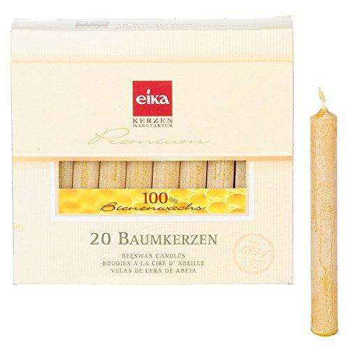 24 Packungen Eika-Christbaumkerzen mit 100 % Bienenwachs, 20er Packung
