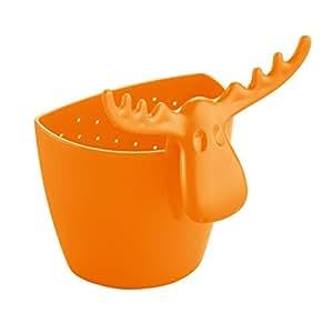 Passoire à thé Rudolf Koziol, Filtre à thé pour Tasse, Décoration, Orange Opaque, 3233020