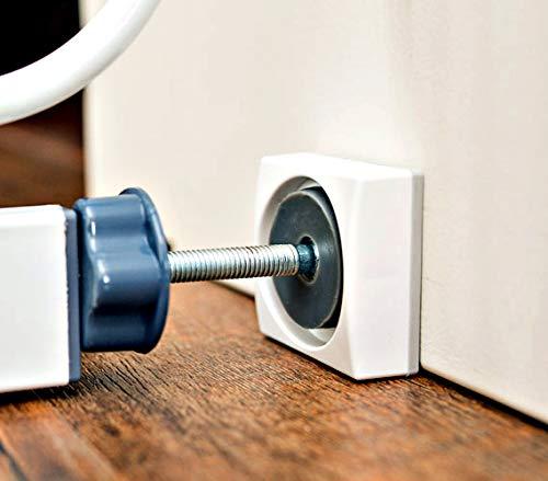 Wall Nanny Mini – Wandschützer für Treppengitter und Babygitter als auch für Hunde- & Haustierabsperrungen (4er-Set)– perfekt für Türen und Durchgänge – Unterlagen schützen und unterstützen Wände vor Druck durch Einspann-Absperrungen
