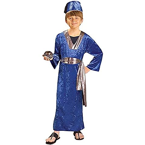 Child Costume Biblical Times Wiseman (Blue) Medium (accesorio de disfraz)