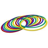 12 cerchi colorati per fitness ed esercizi di coordinazione - 45 cm