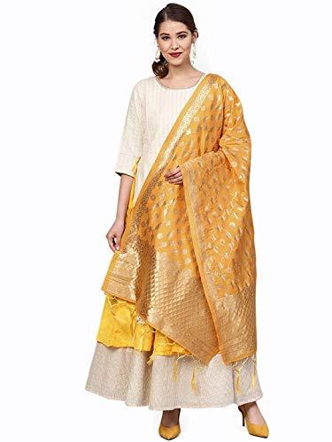 themilestocks Indischer Brautschmuck Hochzeit Pakistani Banarasi Frauen gewebte Baumwolle Seide Schleier Dupatta Stola Chunni Schal - -