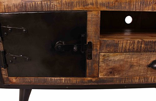 SIT-Möbel 7815-04 (IRON) Lowboard, Holz, natur / schwarz, 40 x 140 x 55 cm - 3