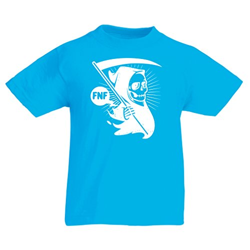 lepni.me Camisas para niños Muerte (7-8 Years Azul Claro