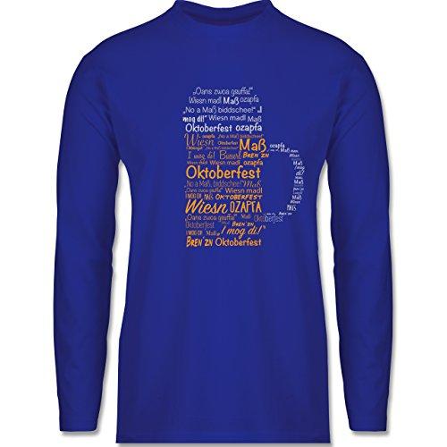 Oktoberfest Herren - Oktoberfest Maß - Longsleeve / langärmeliges T-Shirt für Herren Royalblau