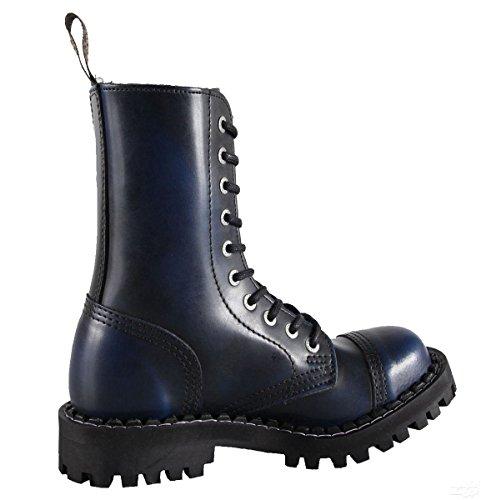 Steels 10 Loch Boots Blau Rub Off Blau