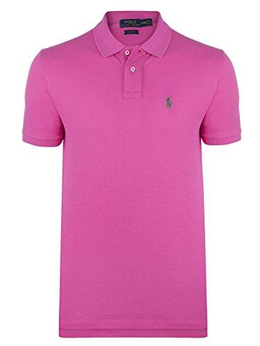 Ralph Lauren Polo Poloshirt Custom fit SMALL Pony pink/grün Größe M