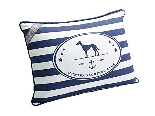 HUNTER Binz maritimes Deko Kissen, blau/weiß - Sofa Hunter