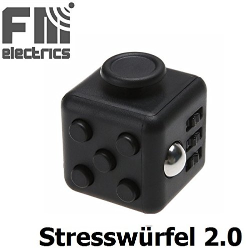 #Restless Cube Stresswürfel wie Fidget Cube – Gadget – Spielzeug gegen Stress, unruhige Hände, Perfekt für nervöse Finger#