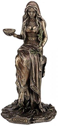 Figur Pythia die Priesterin im Orakel von Delphi bronziert Skulptur