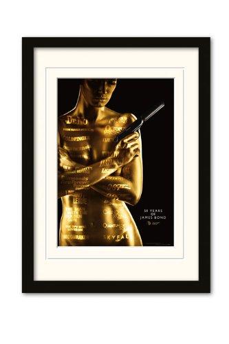 James Bond 50th Anniversary Poster encadré A3