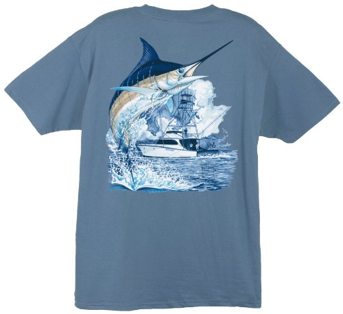 Fireti  Herren / Unisex T-Shirt, Herren, denim (Guy Harvey-t-shirt)