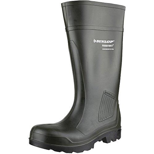 Dunlop Stivali da Lavoro Purofort Professionale Completa Sicurezza Verde Scuro S5 C462933 Verde (verde)