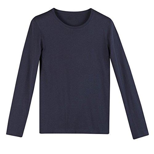 Les Petits Prix Mann Shirt, Runder Ausschnittbr Marine