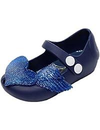Malloom Sandalias de Cristal Jalea Niños Zapatos de Cabeza de pez Chica Antideslizante Sandalias de Niñas