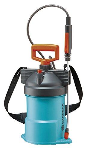 GARDENA Comfort Drucksprüher 3 l: Drucksprühgerät mit langem Schlauch, Standfuß, großer Einfüllöffnung, Füllskala zum Anmischen, Schultergurt (867-20) (Baum Pestizid)
