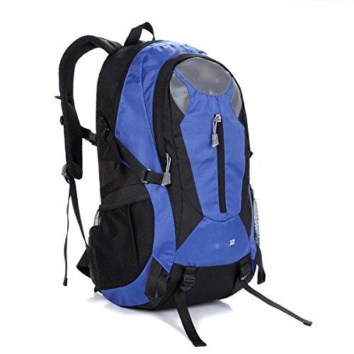 LQABW Wasserdicht Männer Mountaineering Frauen Schultern Sport Reise Studenten Tasche Wandern Polyester Atmungsaktiv Rucksack 30L Blue