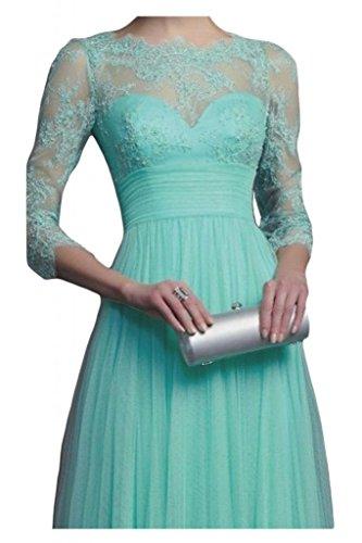 Gorgeous Bride Modisch Empire Tuell Spitze Lang Ärmel Abendkleider Festkleider Ballkleider Lavendel