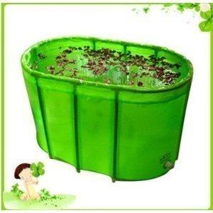 carl-artbay-double-pliant-baignoire-baignoire-avec-housse-et-coussin-vert
