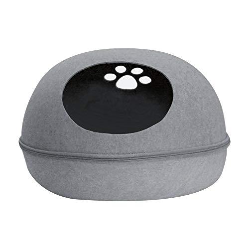 Información del Producto:  Nombre del producto: nido de fieltro en forma de huevo  Color del producto: azul, rosa, gris  Material: paño de fieltro  Tamaño pequeño: sobre 47cm * 37cm * 34cm / 18.5 * 14.56 * 13.38in  Temporadas aplicables: Cuatro e...