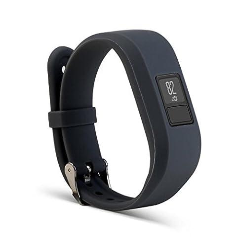 Transer® Kompatibel Für Garmin Vivofit 3 Watch Ersatz Uhrenarmbänder+ Buckle Sport Weiche Silikagel Uhrenarmband Langlebig Bügel Armband für Uhren Uhr Länge 17-22CM (Grau)