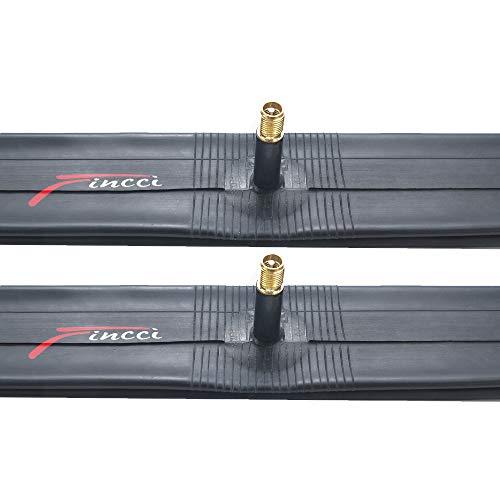 Fincci Paar 26 x 1,75 1,95 2,125 Zoll 33mm Autoventil Schläuche Fahrradschlauch für Mountainbike MTB Rennrad Hybrid Fahrrad (2er Pack)