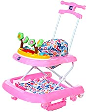 Mee Mee Premium Baby Walker with Rocker (Baby Pink)