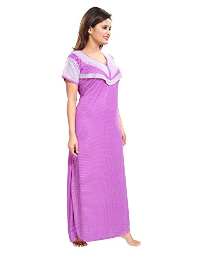 Tucute-Womens-Beautiful-Dotted-Print-Feeding-Maternity-Nursing-Nighty-Nightwear