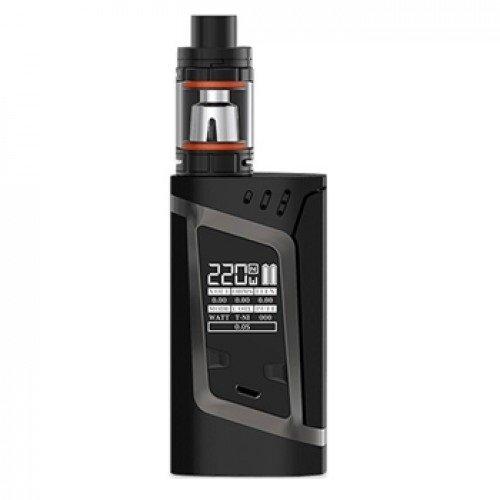 SMOK Alien Kit 220W TC y TFV8 Baby Kit, negro y gris, para la celda 2 x 18650 batería - ni nicotina, ni tabaco