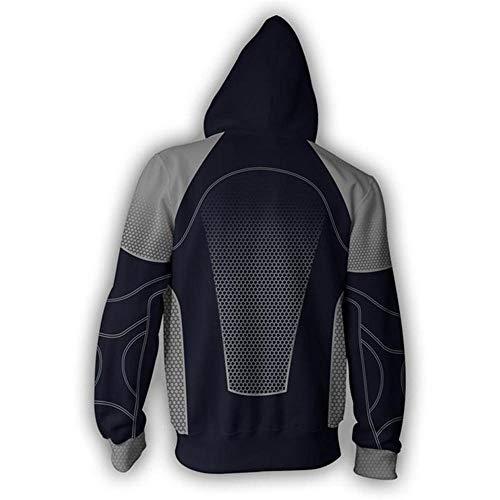(RJHWY 3D Hoodie Sweatshirt Unisex Pullover Kapuzenjacke Kleidung Mantel Reißverschluss Hunger Game XXXL)