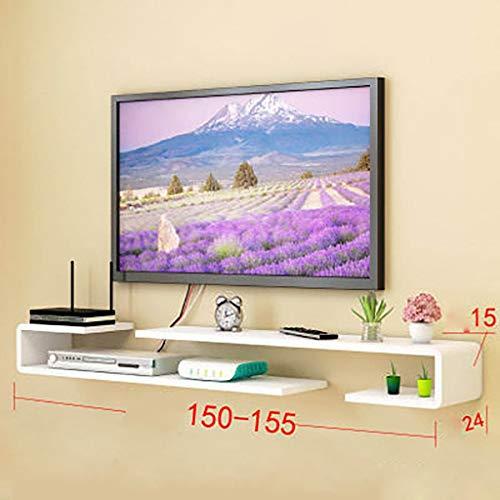 HJJ Schwimmdock Regale Wand-TV-Schrank, Media Center TV-Konsole Stand Entertainment Möbel, for Kabelbox/Router/Remotes/DVD Spieler/Spiel Konsolen- Modern, Moderne Lounge, ESS- oder Wohnzimmer Furn -
