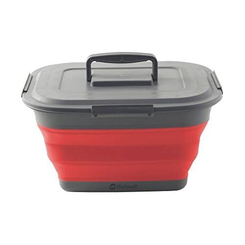 41zITek8osL. SS500  - Outwell Collaps Storage plastic box L grey/red 2015
