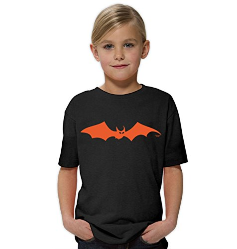 Fledermaus ::: Lustiges Halloween Kinder-Fun-Kostüm-T-Shirt Mädchen Teenager Party-Outfit-Bekleidung tolles Geschenk Farbe: schwarz Gr: 122/128