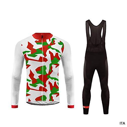 Uglyfrog 2018-2019 Cycling Kit Fleece Winter Fleece Neue Radsport Anzüge Herren Long Trikots + Lange Bib Hosen Gel Pad Spring Triathlon Clothes Reflektoren Full Zip -