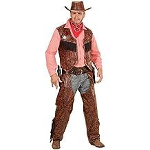 Widmann 05924adulto camiseta disfraz de vaquero con chaleco, chaparreras y sombrero