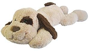 Heunec 901179 - Perro de Peluche Tumbado, XL, Colour marrón/Beige