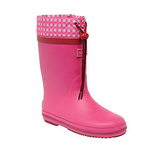 Regatta Boys & Girls Hamish Junior Fleece Lined Rubber Welly Boots Raspberry Rose